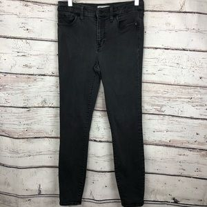 Madewell High Riser Skinny Jeans Black washed